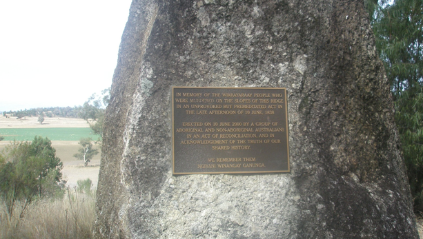 essay on myall creek massacre The brutal massacre at myall creek of around 30 men the myall creek massacre and memorial site is of high significance to the wirrayaraay of gamilaroi people these views were promoted through papers such as the sydney monitor and the australian.